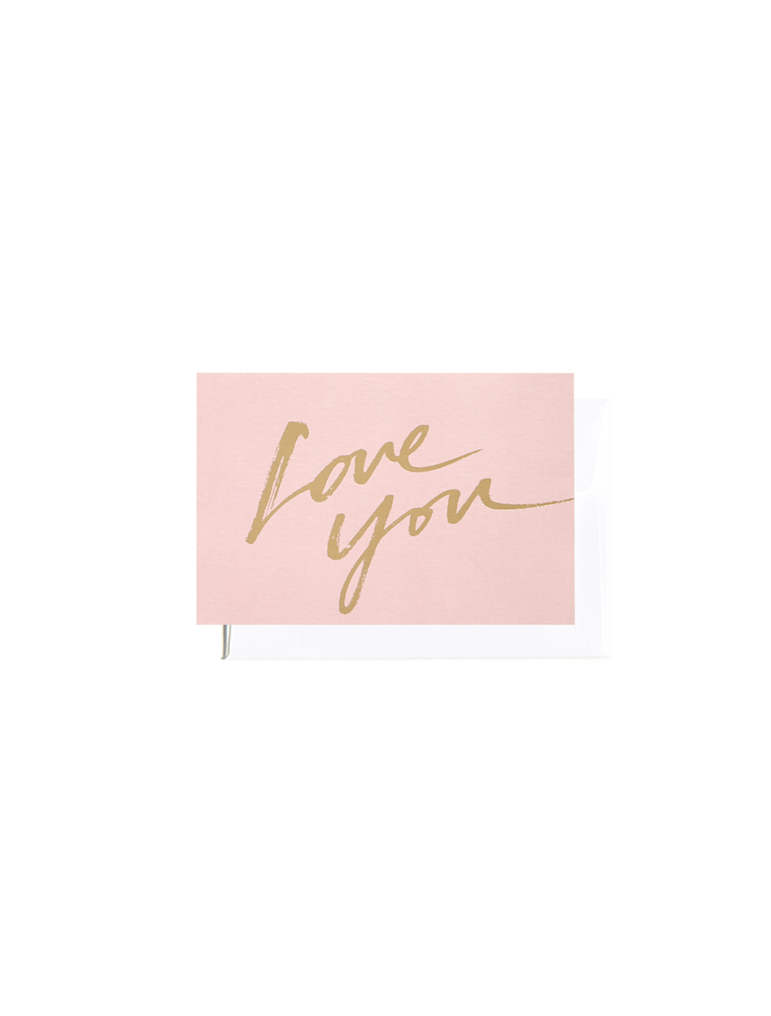 Love you calligraphy message card