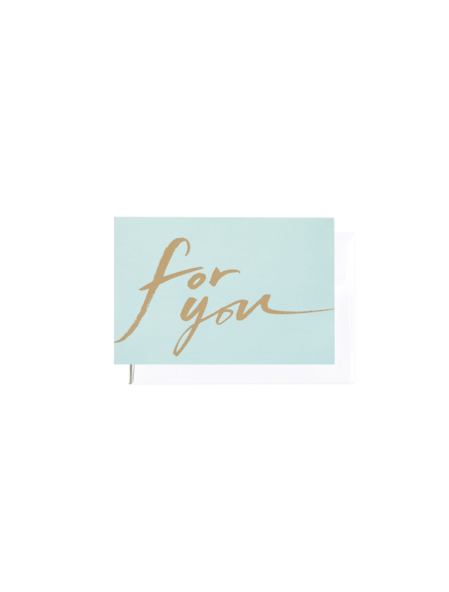 For you calligraphy message card